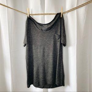 2/$12 Faded Glory Black Soot Semi Sheer Shirt